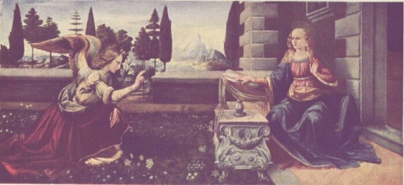 Annunciation In the Uffizi Gallery