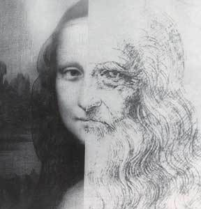 leonardo da vinci self portrait and mona lisa