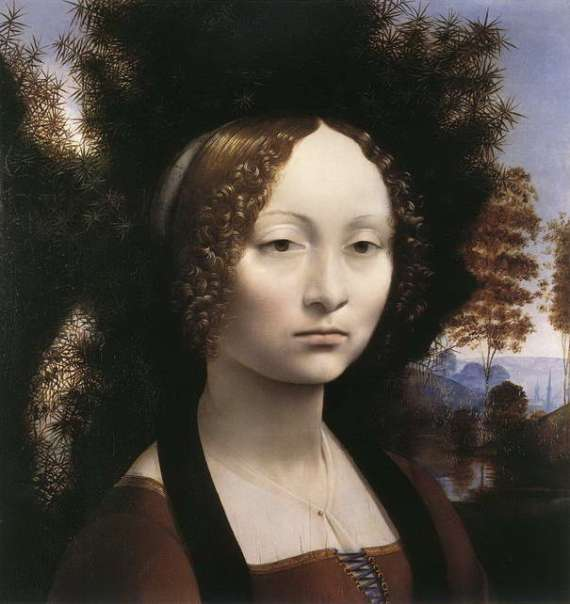 Portrait of Ginevra de' Benci Famous Leonardo Da Vinci Paintings