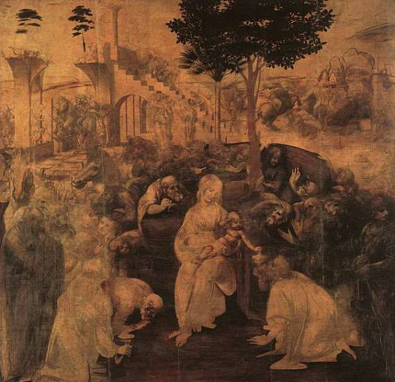 The Adoration of the Magi is an early painting by Leonardo da Vinci